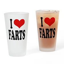 I Love Farts Pint Glass