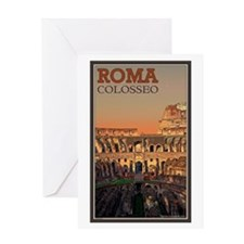 Colosseum Moon Greeting Card