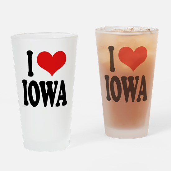 I Love Iowa Pint Glass