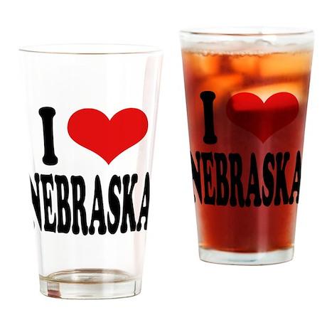 I Love Nebraska Pint Glass