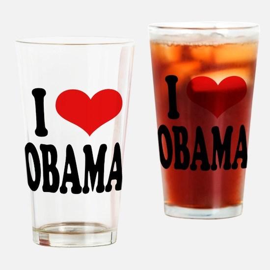 I Love Obama Pint Glass