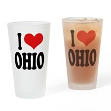 I Love Ohio Pint Glass
