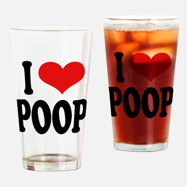 I Love Poop Pint Glass