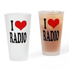 I Love Radio Pint Glass
