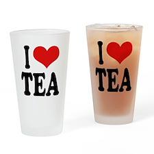 I Love Tea Pint Glass