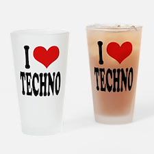 I Love Techno Pint Glass