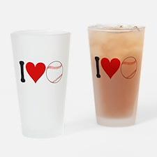 I Love Baseball (design) Pint Glass
