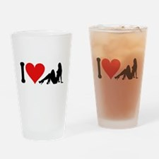 I Love Strippers (design) Pint Glass