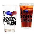 I Love John Edwards Pint Glass