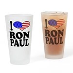 I Love Ron Paul Pint Glass