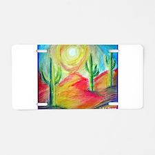 Desert, Sunset Aluminum License Plate