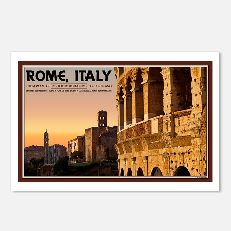 Rome Sunset Postcards (Package of 8)