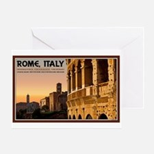 Rome Sunset Greeting Card