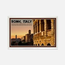 Rome Sunset Rectangle Magnet