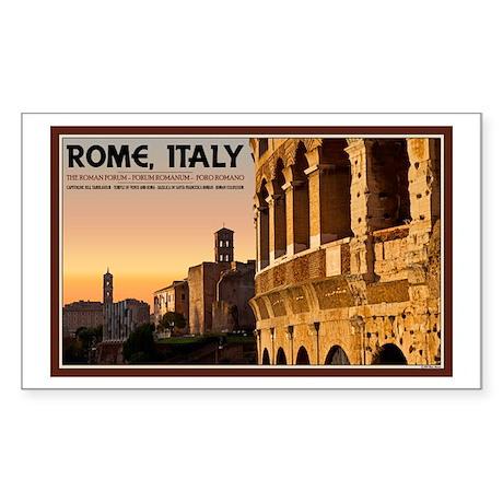 Rome Sunset Sticker (Rectangle)