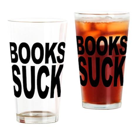Books Suck Pint Glass