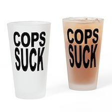 Cops Suck Pint Glass