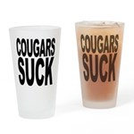 Cougars Suck Pint Glass