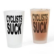 Cyclists Suck Pint Glass