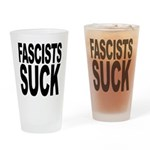 Fascists Suck Pint Glass