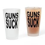 Guns Suck Pint Glass