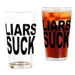 Liars Suck Pint Glass