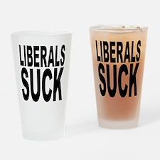Liberals Suck Pint Glass