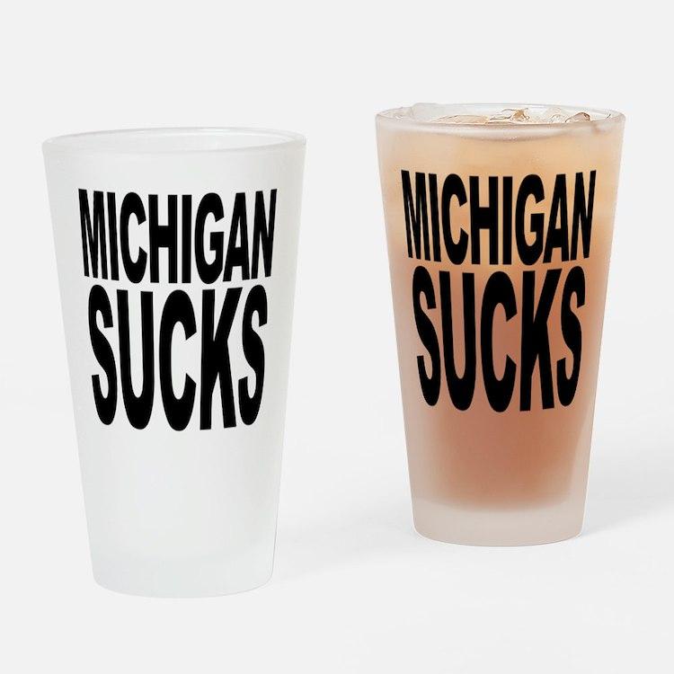 Michigan Sucks Pint Glass