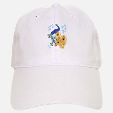 Three Feathers and a Peacock Baseball Baseball Cap