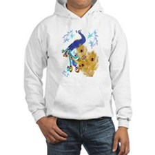 Three Feathers and a Peacock Hoodie