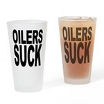 Oilers Suck Pint Glass