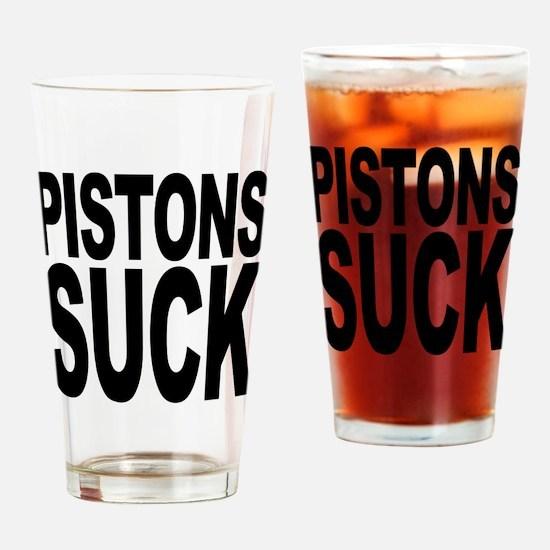 Pistons Suck Pint Glass