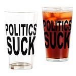 Politics Suck Pint Glass