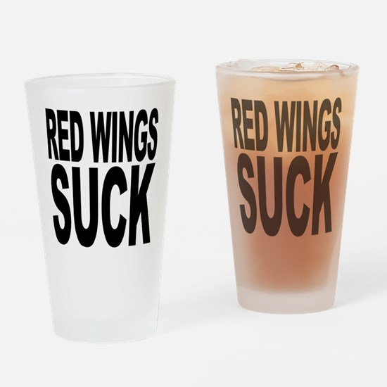 Red Wings Suck Pint Glass