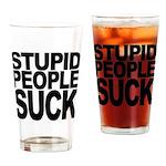 Stupid People Suck Pint Glass