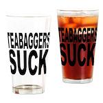 Teabaggers Suck Pint Glass