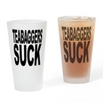 Teabaggers Suck Pint Glass
