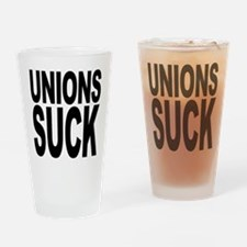 Unions Suck Pint Glass