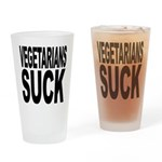 Vegetarians Suck Pint Glass