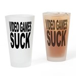 Video Games Suck Pint Glass