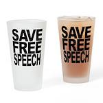 Save Free Speech Pint Glass
