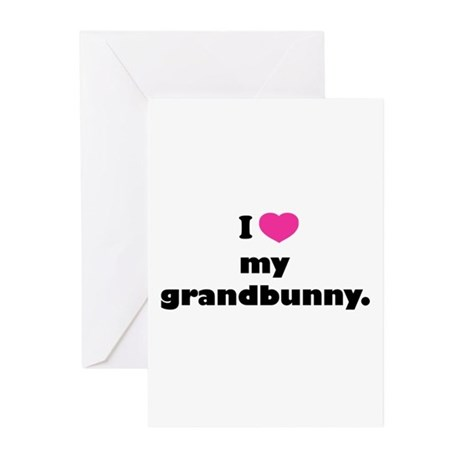 I love my grandbunny. Greeting Cards (Pk of 10)