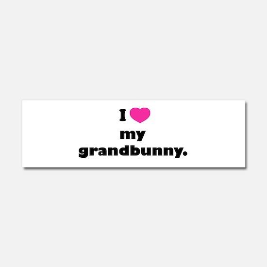 I love my grandbunny. Car Magnet 10 x 3