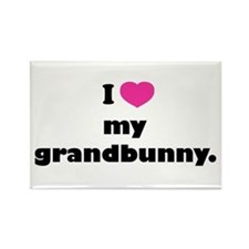 I love my grandbunny. Rectangle Magnet