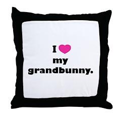 I love my grandbunny. Throw Pillow