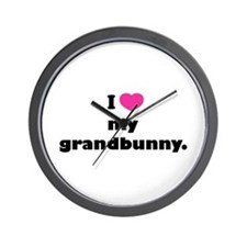 I love my grandbunny. Wall Clock