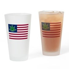 US Pot Flag Pint Glass