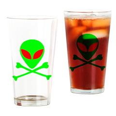 Alien Skull and Bones Drinking Glass