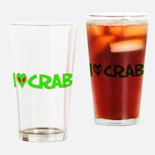 I Love-Alien Crab Pint Glass