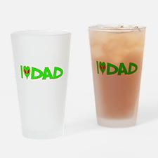 I Love-Alien Dad Pint Glass